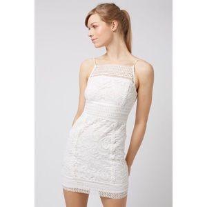 EUC⭐️ TOPSHOP Petite Floral Lace Bodycon Dress